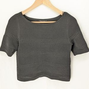 White House Black market  stretchy crop top